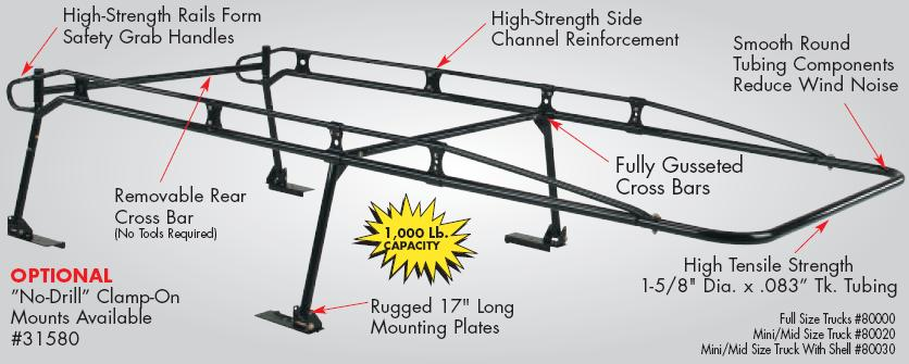 Strong S Ladder Rack For 5 5ft Beds In Riverside Ca